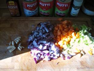 Chopped ingredients!